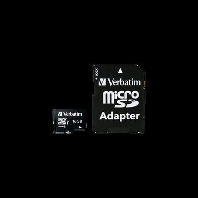 Carte mémoire Micro SDHC VERBATIM, 16Go, classe 10, adaptateur