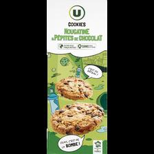Cookies nougatine et pépites de chocolat U, étui 200g