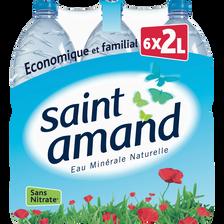 Eau minérale SAINT AMAND, 6 bouteilles de 2l