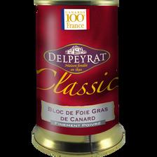 Delpeyrat Bloc Foie Gras Canard Poivre Doux Origine France , Boîte De 330g