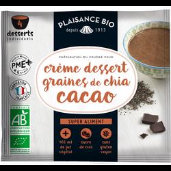 Préparation en poudre pour crème dessert graines de chia cacao vegan PLAISANCE BIO, 50g