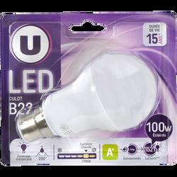 Ampoule LED ronde, U, 100w, B22 D