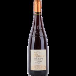 Vin rouge Touraine Gamay rouge Félix Laquebrou, 75cl