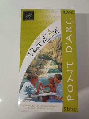 BIB blanc 5L Cellier du Pont d'Arc vignerons Ardéchois