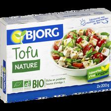 Pâte de soja tofu nature Bio, BJORG, 2x200g
