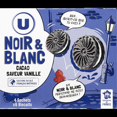Biscuits noir et blanc U, paquet de 176g