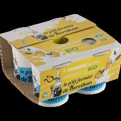 Yaourt au citron bio, LE PETIT FERMIER DE KERVIHAN, 4x125g