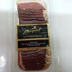 Magret de canard gras séché tranché, MARQUISAT, 90gr