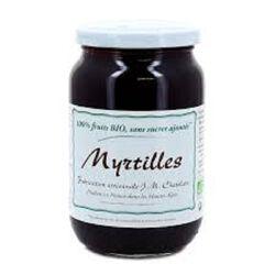 MYRTILLES BIO SANS SUCRE AJOUTE 360G 100% FRUITS - CHATELAIN CONFITURE