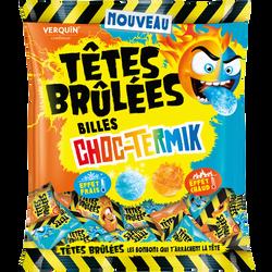 Bonbons billes choc termik TETES BRULEES, sachet de 100g
