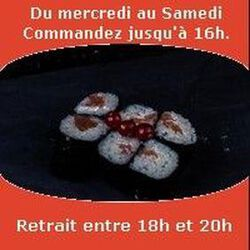 Maki 6 pièces, Saumon cheese,SUSHI MONT BLANC