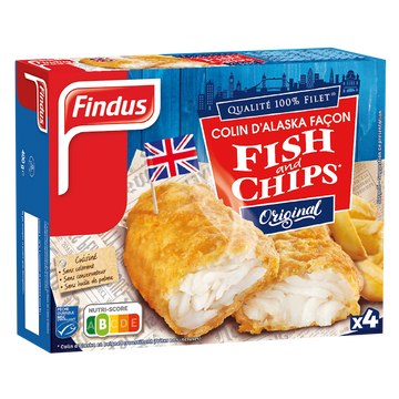 St Mamet Filet Colin Fish And Chips Findus, X4 Soit 400g