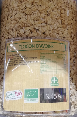 FLOCONS D'AVOINE BIO, UN AIR D'ICI, UE, 150GR