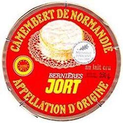 Camembert de Normandie au lait cru JORT, 20%MG, 250g