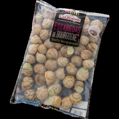 Escargots de Bourgogne Pomatia COURBEYRE, 48 unités, 356g