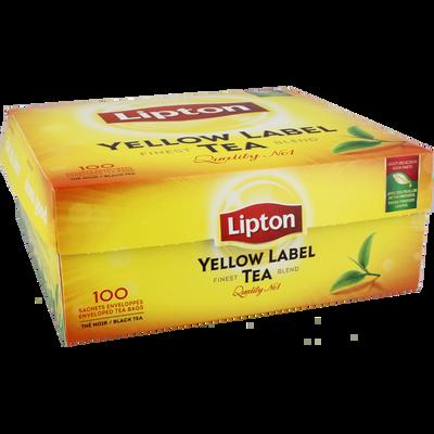 Thé Yellow Label LIPTON, 100 sachets fraîcheur, 200g