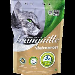 Litière végétale pour chat végécompost & bicarbonate TRANQUILLE, sac de 4 litres