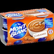 Mini crème dessert au caramel MONT BLANC, 4x125g