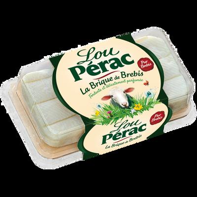 Fromage au lait pasteurisé brique de brebis 26,3% de MG, LOU PERAC, 150g
