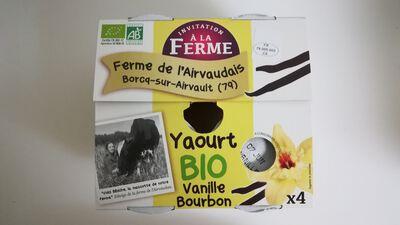 Yaourt sucré à la vanille Bourbon - 4x125g - La ferme de l'Airvaudais