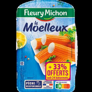 Fleury Michon Bâtonnets De Surimi Moelleux Fleury Michon, Boîte De 288g + 33% Offert