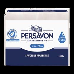 Savon Marseille extra doux hypoallergénique PERSAVON 2x300 grammes