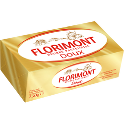 Beurre pasteurisé doux 82% de MG, 250g