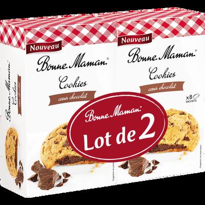 Cookies coeur chocolat BONNE MAMAN, 2x225g