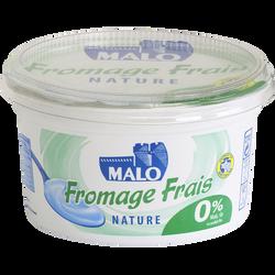 Fromage frais nature MALO, 0% de MG, 500g
