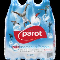 Eau minérale naturelle gazeuse PAROT, 6 bouteilles de 1,25l