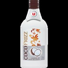 Liqueur Frizz saveur coco U, 15°, bouteille de 70cl