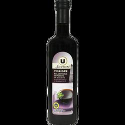 Vinaigre balsamique U SAVEURS, 6°, bouteille en verre de 50cl