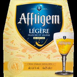 Bière blonde cuvée légère AFFLIGEM, 4,6° pack de 6x25cl