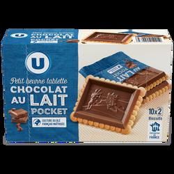 Tablette petit beurre au chocolat au lait U, 250g