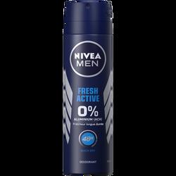 Déodorant homme fresh active NIVEA, atomiseur de 150ml