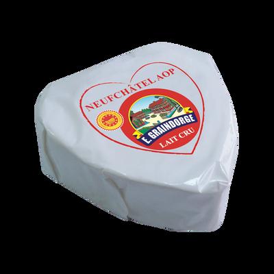 Coeur de Neufchâtel AOP au lait cru, GRAINDORGE, 24% de MG, 200g