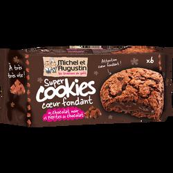 Cookies coeur fondant tout chocolat MICHEL ET AUGUSTIN, sachet de 180g