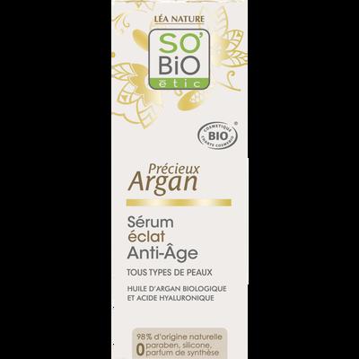 Sérum éclat anti-âge précieux argan bio SO BIO pot 30ml