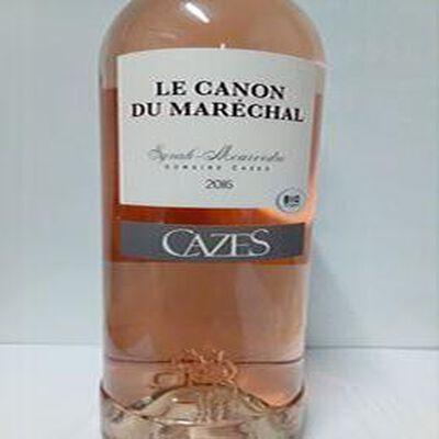 LE CANON DU MARECHAL côtes Catalanes IGP  DOMAINE CAZES ROSE 75 CL