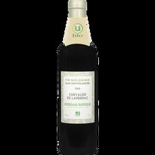 Bordeaux supérieur AOC rouge Chevalier de Landerac UBIO, 75cl