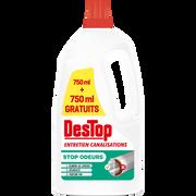 Destop Gel Entretien Canalisation Pin Destop 750 + 750ml Offert
