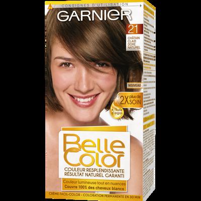 Coloration permanente châtain clair doré n°21 BELLE COLOR