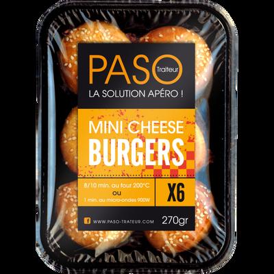 Mini cheese burger Les Apéros PASO, 6 unités soit 270g