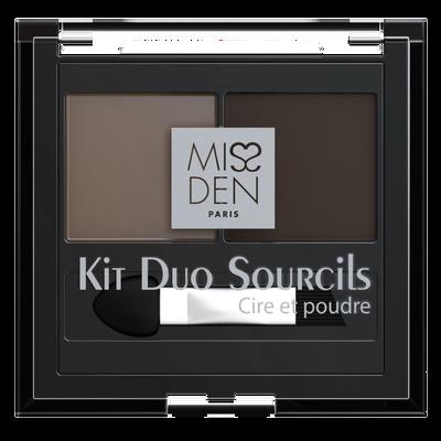 Kit duo sourcils brunette 537 nu, MISS DEN