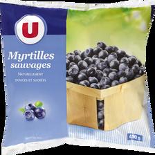 Myrtilles sauvages naturellement douces & sucrées U, 450g