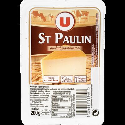 St Paulin au lait pasteurisé U, 23%MG, 200g