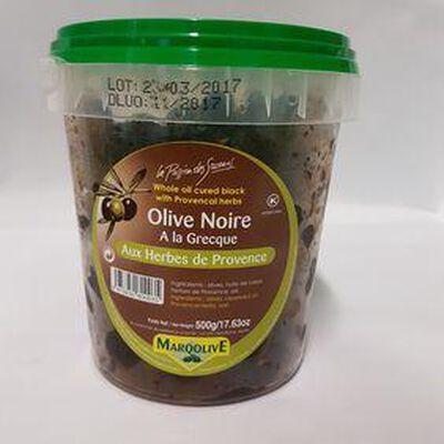 OLIVE NOIRE A LA GRECQUE AUX HERBES DE PROVENCE 500G