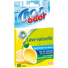 Neutralisateur d'odeurs pour lave-vaisselle CROC'ODOR