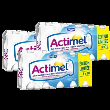Actimel Lait Fermenté Sucré Nature Actimel, 10x100g