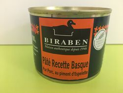 PATE RECETTE BASQUE BIRABEN